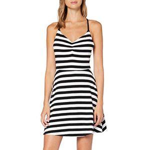 United Colors of Benetton (Z6ERJ) Women's Vestito Dress, Stripes White & Black 906, X-Large