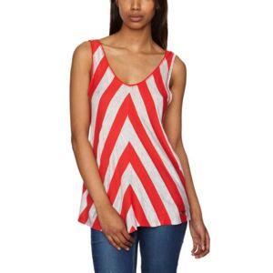 Roxy Roller Plain Women's T-Shirt Imagine Stripe Red Large