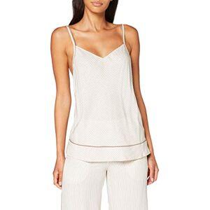 Calvin Klein Women's Camisole Pyjama Top, Beige (Single Stripe SMH), Large (Size:L)