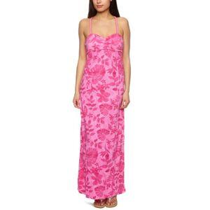 Roxy Hawaian Poppy Halterneck Women's Maxi Dress Purple Dancing Moo X-Large