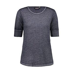 CMP Women's Maglia Sportswear A Mezze Maniche In Cotone Burn Out Jersey T-Shirt, Marine, 50