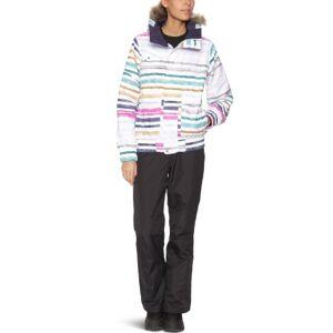 B.Snowboards Burton Women's Skiing Jacket blanco Palette Stripe Size:L
