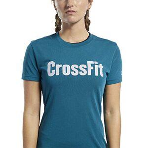 Reebok Women's Crossfit Rd Short0Sleeved T-Shirt, Blue (Heritage Teal), XS