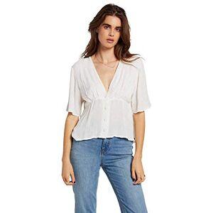 Volcom Women's Coco Button Thru Top, Star white, XS