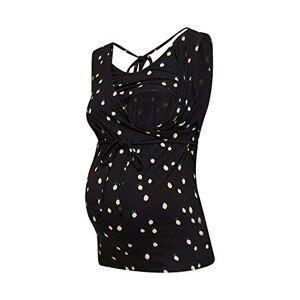 Esprit Maternity Women's T-Shirt Nursing Sl AOP Maternity Vest Top, Multicolour (Black 001), 18 (Size: XX-Large)