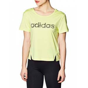 adidas Women's Wmn Shortsleeve Short-Sleeved T-Shirt, Yeltin/Black, XS