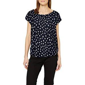 ONLY NOS Women's Onlvic Ss Aop Top Noos Wvn Short Sleeve Top, Multicolour (Night Sky AOP:IRREGULAR DOT), 8 (Manufacturer Size: 36)