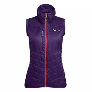 Salewa Women's Ortles Hybrid Awr Vest, Purple (Parachute/6080), 10 (Manufacturer Size: 44/38)