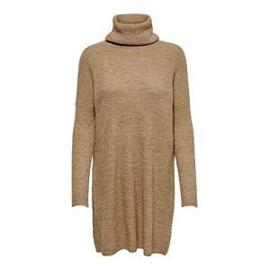 ONLY Women's Onljana L/s Cowlneck Dress Wool KNT, Brown (Indian Tan Detail: W. Melange), 10 (Size: Small)