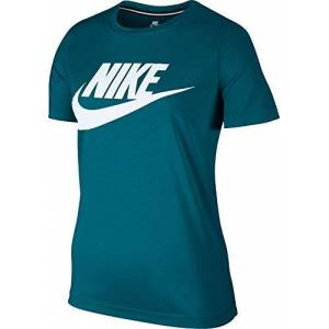 Nike Women's Essential Tee T-Shirt, Blue, Large