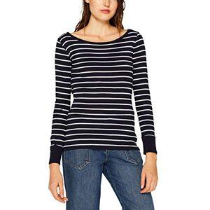 ESPRIT Women's 999ee1k818 Long Sleeve Top, Blue (Navy 400), XX-Large