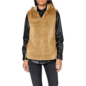 Bestseller A/s ONLY Women's ONLMALOU Faux Fur Waistcoat CC OTW Coat, Pure Cashmere, XS
