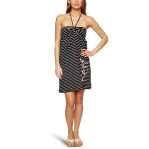 Roxy Lucy Stripe Halterneck Women's Dress Black Lucy Stripe Large