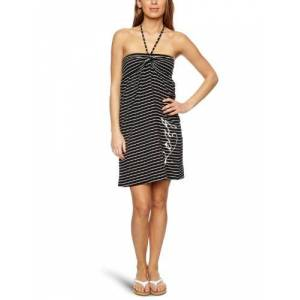 Roxy Lucy Stripe Halterneck Women's Dress Black Lucy Stripe Medium
