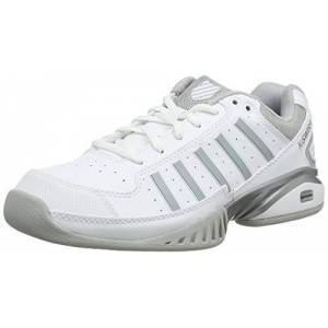 K-Swiss Performance K-Swiss Women's Tennisschuh Receiver Iv Carpet Tennis Shoes, (White/Highrise 182-M), 4.5 UK (37.5 EU)