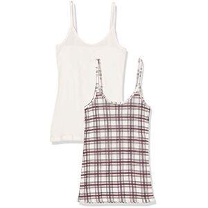 Petit Bateau Women's Chemise Bretelles_5246399 Vest, Multicolour (Variante 2 99), 16 (Size: L 20Years) (Pack of 2)