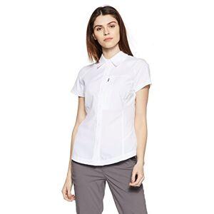 Columbia Women's Silver Ridge Short Sleeve Hiking Shirt, Nylon, White, Size X-Small