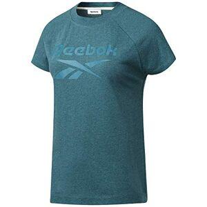 Reebok Women's Te Texture Logo Tee T-Shirt, Medium Heritage Teal, L