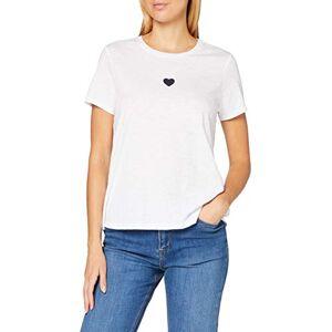 Marc O'Polo Women's 16202151109 T-Shirt, Multicolour (Multi/White A), Small