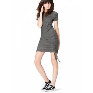 Find Amazon Brand - find. Women's Jersey Dress, Grey (Grau), 8, Label:XS
