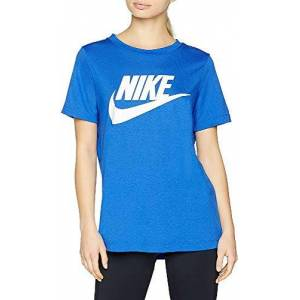 Nike Women's Essential T-Shirt Ladies, Blue/White, XS-32/34