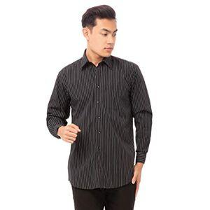 Uniform Works B315-L Long Sleeve Shirt, Pinstripe, Large