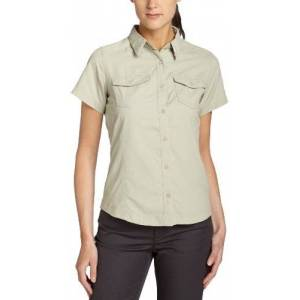 Columbia Psych To Hike Short Sleeve Women's Shirt - Fossil, X-Small