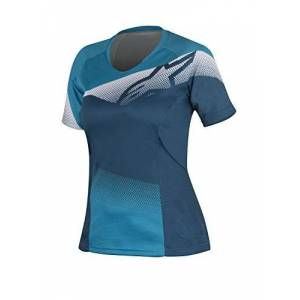 Alpinestars Men's Stella Mesa Short Sleeve Jersey, Blue/Aqua, X-Small