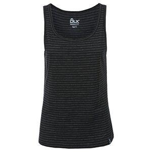 Trespass DLX Mariella, Black Marl, L, Antibacterial Gilet, 100% Merino Wool for Women, Large, Black
