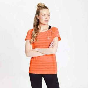 Dare2b Dare 2b Women's DWT504 2CC20L Defy' Stretch Quick Drying Short Sleeve Active T-Shirts/Polos/Vests, Fiery Coral, 20