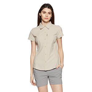 Columbia Women's Silver Ridge Short Sleeve Hiking Shirt, Nylon, Fossil, Size X-Small