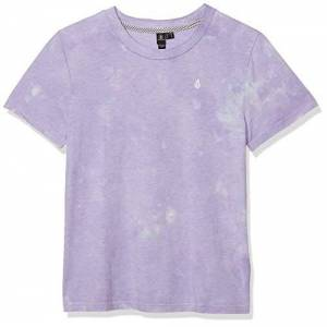 Volcom Women's Clouded Ss T-Shirt, Multi-Coloured, L
