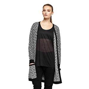 OnePiece Women's P-JA15003 Jacket, Multicoloured (Black/White), (Size: Medium)