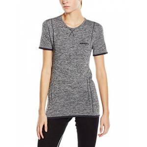 Craft Active Comfort RN Women's Short-Sleeved Shirt Base Layer Multi-Coloured grey melange Size:XS