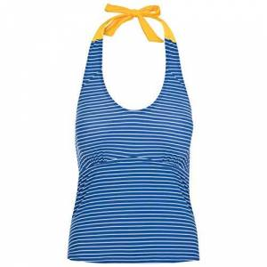 Trespass Women's WINONA Tankini Top with Removable Neck Strap & Removable Pads, Blue Moon Stripe, L