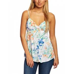 O'Neill Tropical Prime Halterneck Women's Tank Top White/Green Floral X-Large