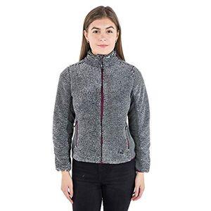 Trespass Muirhead, Grey Stripe, L, Warm Fleece Jacket 360gsm for Ladies, Grey, Large