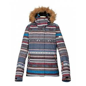 Roxy Women's Jet Ski Snowboarding Jacket Multi-Coloured Mehrfarbig - Toluca Stripe/Antracite Size:Large
