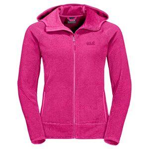 Jack Wolfskin Women's Arco Fleece Jacket, Pink Fuchsia Stripes, Size 6