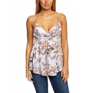 O'Neill Tropical Prime Halterneck Women's Tank Top White/Grey Floral Large
