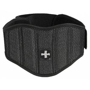 Harbinger Unisex's Firm Fit Contoured Weight Lifting Belt, Posture Support, Strength Training Equipment, Black, XL, X-Large