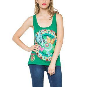 Desigual Women's Short Sleeve T-Shirt - Green - XS (Manufacturer Size: S)