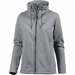 Jack Wolfskin Women Sky Thermic Fleece Jacket - Medium Grey, Size 4