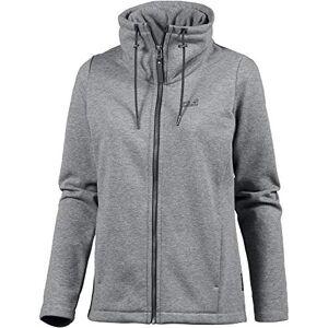 Jack Wolfskin Women Sky Thermic Fleece Jacket - Medium Grey, Size 3