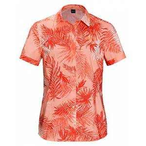 Jack Wolfskin -- Domestic Jack Wolfskin Women's Sonora Palm Shirt Short sleeve, X-Small, Apricot Pastel All Over