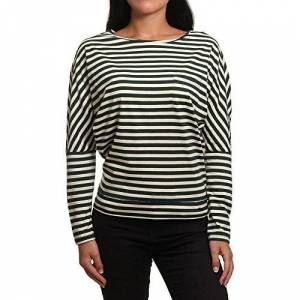 O'Neill s Essentials Striped Top Long Sleeve Tees, Green/White, Large
