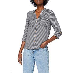 Bestseller A/s Vero Moda Women's Vmbumpy L/S Shirt Noos Tank Top, Stripes: India Ink Snow White, Large