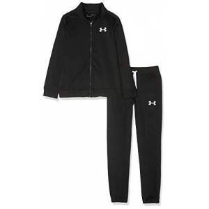 Under Armour Knit Track Suit Warm-up Set, Kids Black, Black / / White (001), YLG