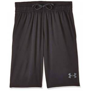 Under Armour Prototype Wordmark Short Short, Kids Black, Black/Pitch Gray, Large