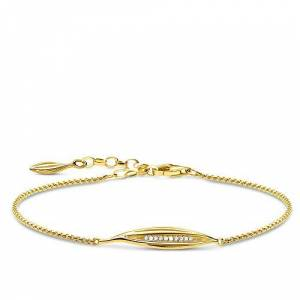 Thomas Sabo Women Sterling Silver Cubic Zirconia Bracelet - A1935-414-14-L19v